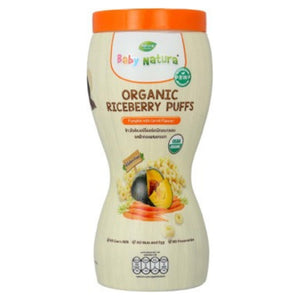 Baby Natura Organic Riceberry Puff - Pumpkin with Carrot Flavour 40g