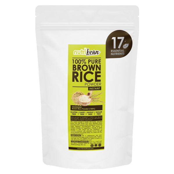 NutriBran 100% Pure Brown Rice Powder Instant - 300g