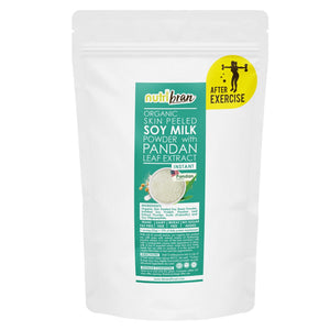 NutriBran Organic Skin Peeled Soy Milk Instant Powder with Pandan Leaf Extract - 300g