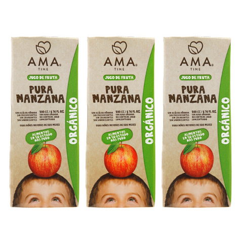 AMA Time Organic Apple Juice 200ml - Bundle of 3