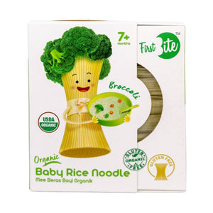 First Bite Organic Baby Rice Noodle (Gluten Free) - Broccoli