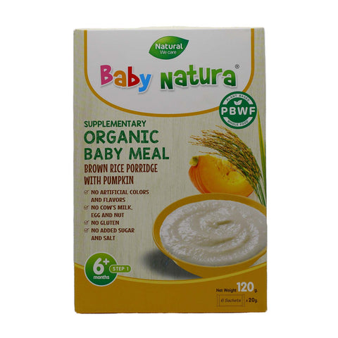 Baby Natura Brown Rice Porridge with Pumpkin - 120g  (20gx6)