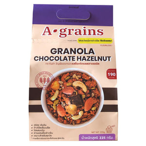 Granovibes A-Grains Chocolate Hazelnut Granola - 225g