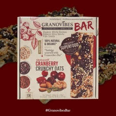 Granovibes Cranberry Crunchy Oats Granola Bar 28g [EXP 10 FEB 2021]