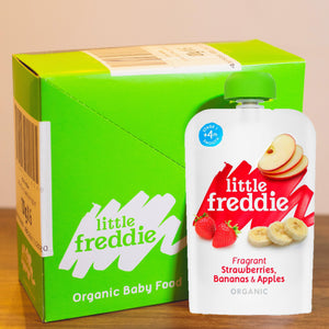 Little Freddie Fragrant  Strawberries , Bananas & Apples - INNER BOX (6 x 100g) [EXP18 DEC 2020] PROMO