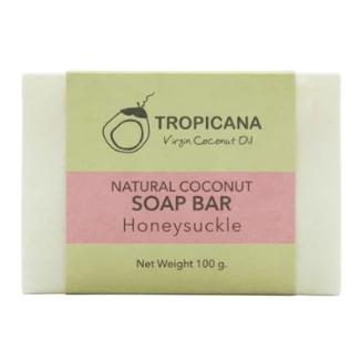 Tropicana Organic Cold Pressed ( Application) Natural Coconut Oil  Soap Bar - Honeysuckle - 100g