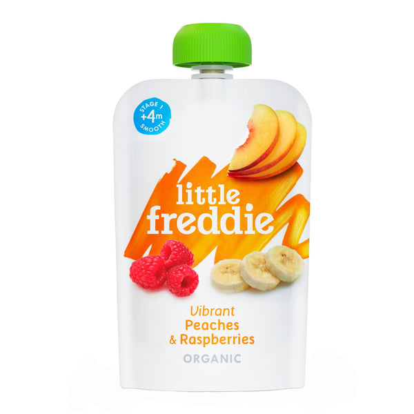Little Freddie Fruit & Vegetable -  Vibrant Peaches & Raspberries - 100g