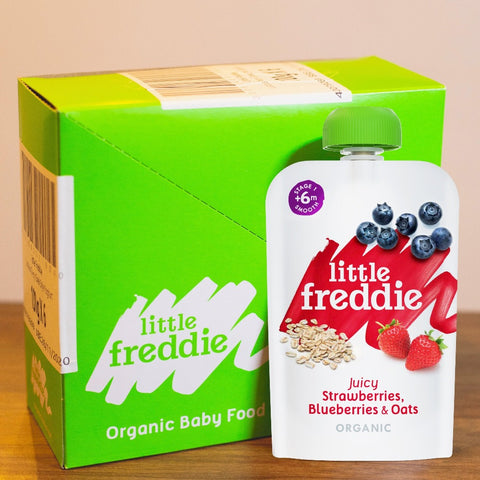 Little Freddie Juicy Strawberries , Blueberries & Oats - INNER BOX (6 x 100g) [EXP 14 FEB 2021]