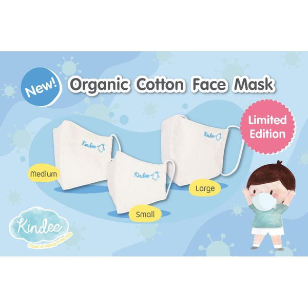 Kindee Organic Kid Mask M (5 to 10 years old) -  Pack of 3