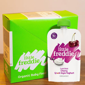 Little Freddie Luscious Cherry Greek Style Yoghurt INNER BOX (6 x 100g) [BBF 26 NOV 2020]
