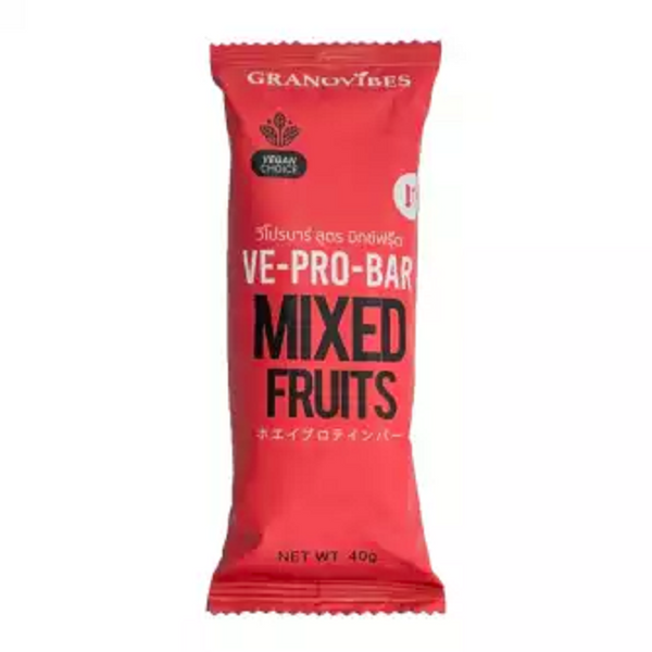 Granovibes VE-Pro-Bar [Mixed Fruits] 40g [EXP 2 JAN 2021]