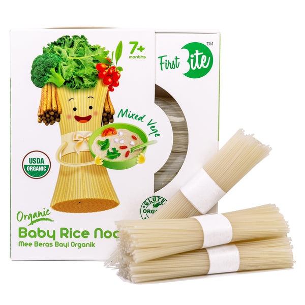 First Bite Organic Baby Rice Noodle (Gluten Free) - Mixed Veg