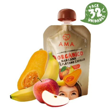 AMA Time Organic Apple, Banana & Butternut Puree (6m+)