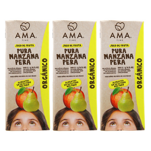 AMA Time Organic Pear and Apple Juice 200ml - Bundle of 3