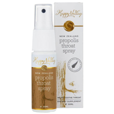 Happy Valley New Zealand Propolis Throat Spray [EXP 11 OCT 2021]