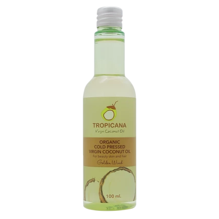 Tropicana Organic Cold Pressed. (Application)  Virgin Coconut Oil- Golden Wind - 100ml.