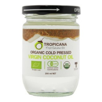 Tropicana Organic Cold Pressed (Consumption) Coconut Oil -200ml [EXP 17 FEB 20201]