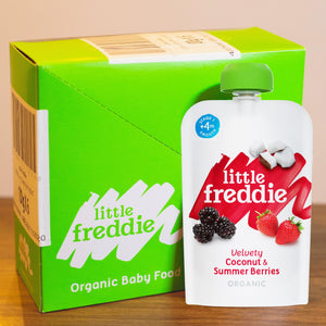 Little Freddie Velvety Coconut & Summer Berries - INNER BOX (6 x 100g) [EXP 7 DEC 2020] PROMO