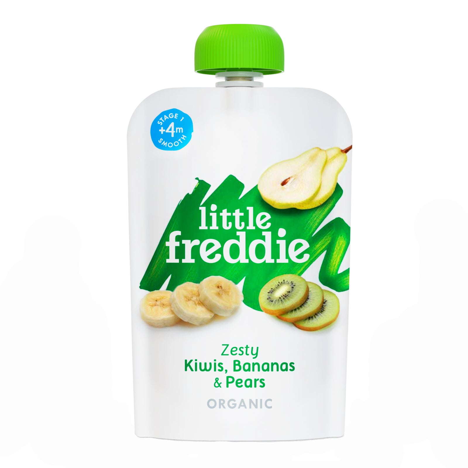 Little Freddie Fruit & Vegetables - Zesty Kiwis , Bananas & Pears - 100g [BBF 7 DEC 2020]