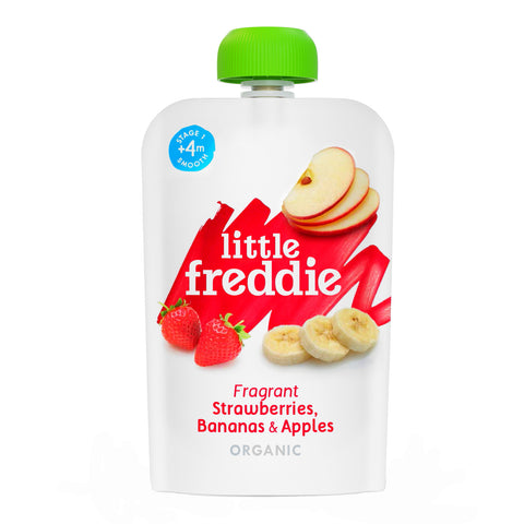 Little Freddie Fruit & Vegetable - Fragrant  Strawberries , Bananas & Apples - 100g [EXP18 DEC 2020]