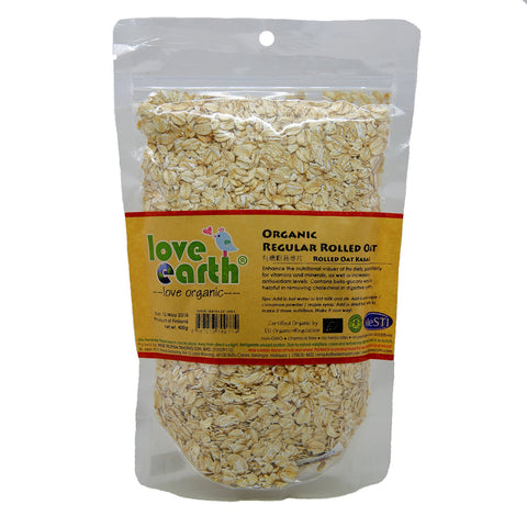 Lover Eath Organic Rolled Oat - Regular Rolled Oat - 400g
