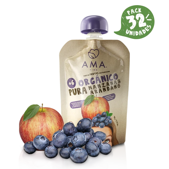 AMA Time Organic Apple & Blueberry Puree (6m+) [EXP 11 JUNE 2021]