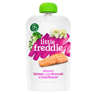 Little Freddie Organic Atlantic Salmon With Broccoli & Cauliflower 120g.[ BBF 7 Mar 2021]