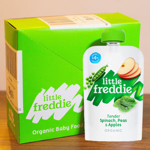 Little Freddie Fruit & Vegetable - Tender Spinach , Peas & Apples INNER BOX (6 x 100g) [BBF 22 Jan 2021] PROMO