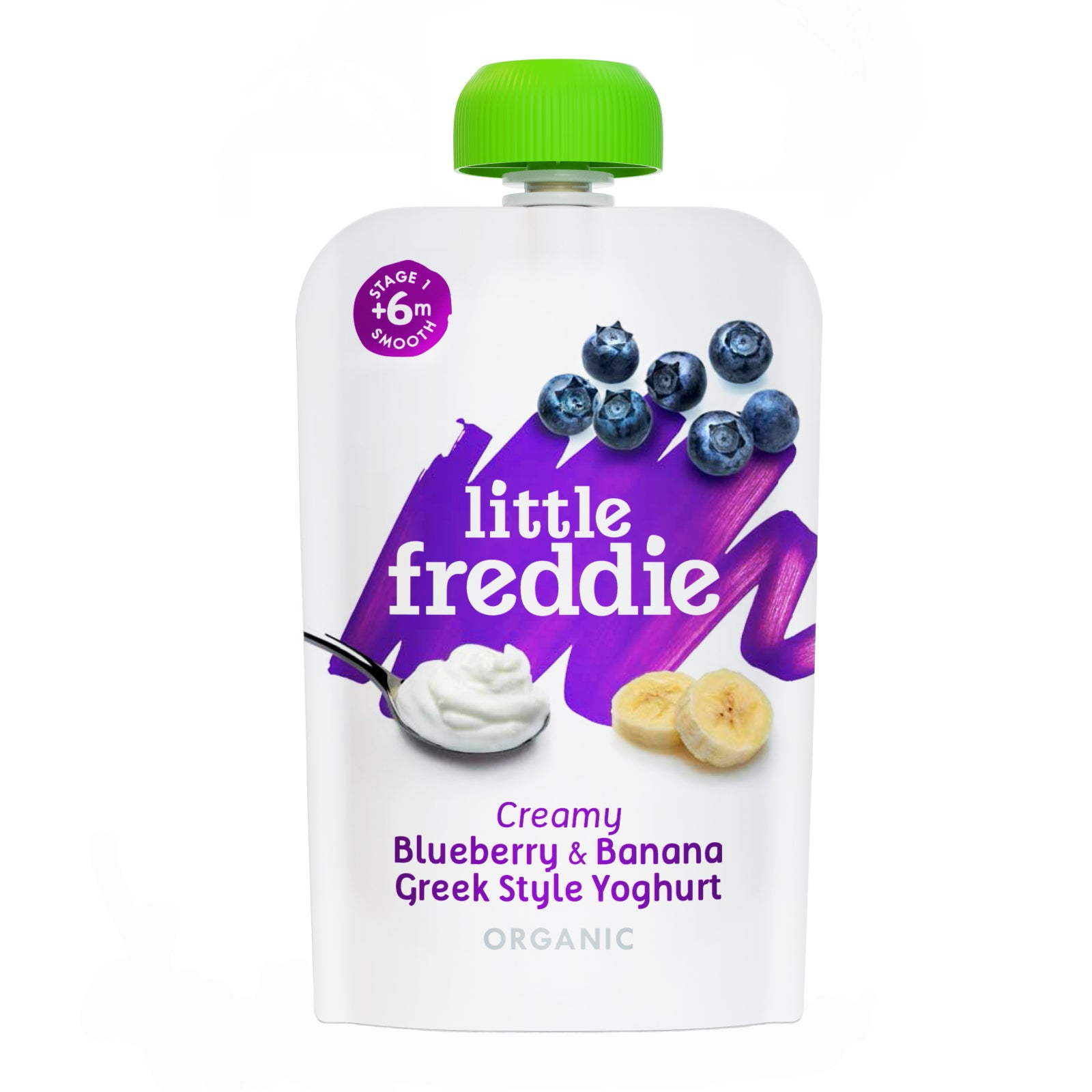 Little Freddie  Creamy  Blueberry & Banana Greek Style Yoghurt - 100g
