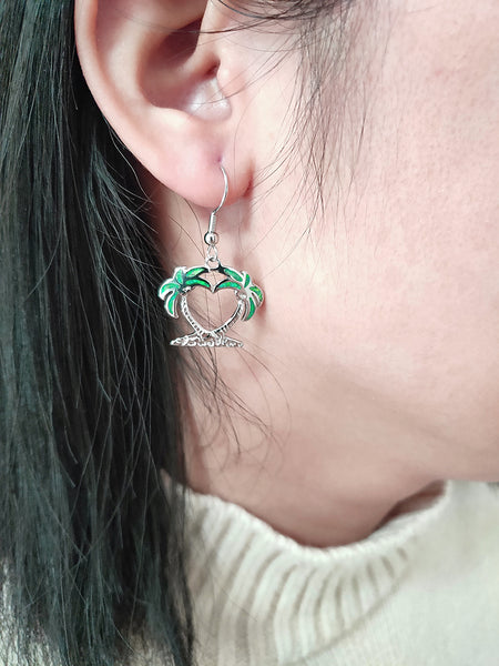 Island Breeze Earrings - Tropical Green
