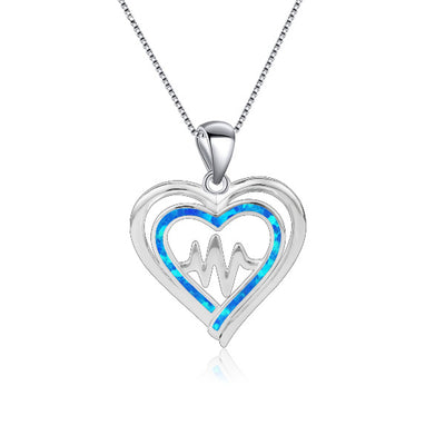 Beating Double Heart Necklace