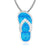Full Opal Flip Flop Necklace