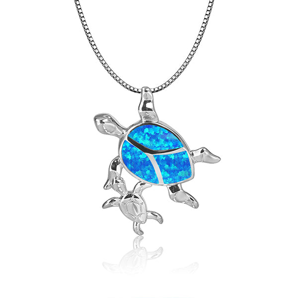 Mama Sea Turtle Necklace