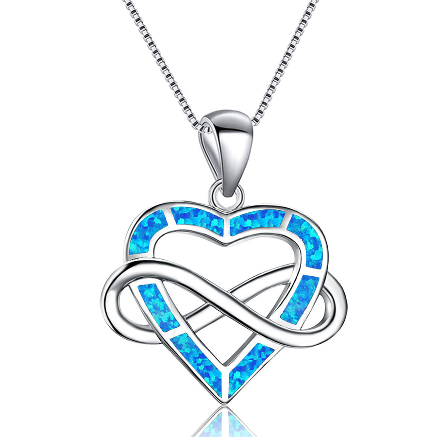 Infinite Opal Heart Necklace