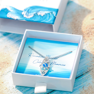 Aloha Turtle Surfboard Necklace