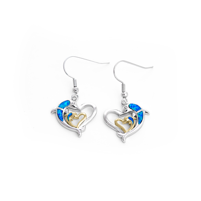 Dolphin Love Earrings