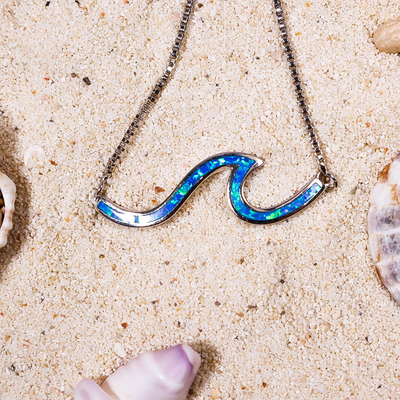 Paradise Blue Wave Anklet