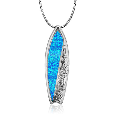 Opal Inlayed Surfboard (Unisex)
