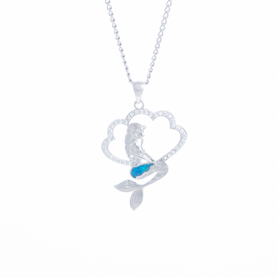 Opal Mermaid Necklace