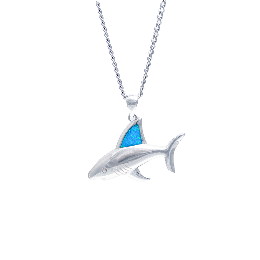 Opal Shark Fin Necklace (Unisex)