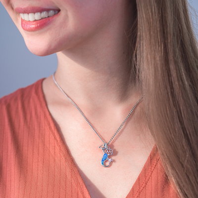 Opal Tail Mermaid Necklace