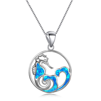 Sea Horse Wave Necklace