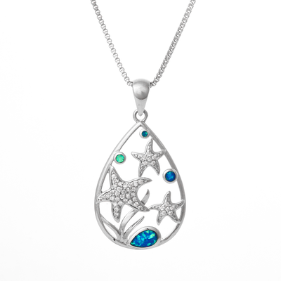 Sea Star Droplet Necklace