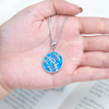 Underwater Sea Turtle Circle Necklace