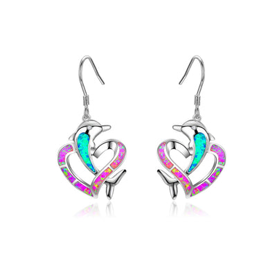 Dolphin Opal Earrings