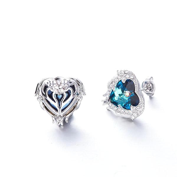 Swarovski Angel Heart Earrings - Madison Ashley
