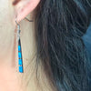 Silver Lining Earrings - Blue Opal