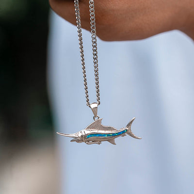 Blue Marlin Necklace (His)