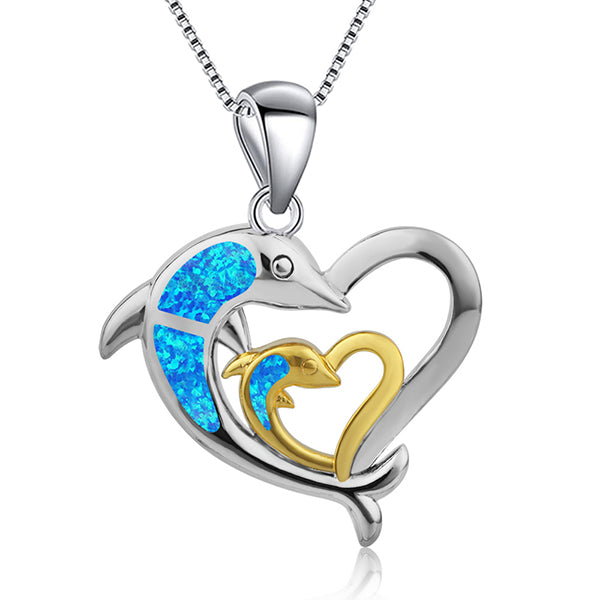 Dolphin Love Necklace