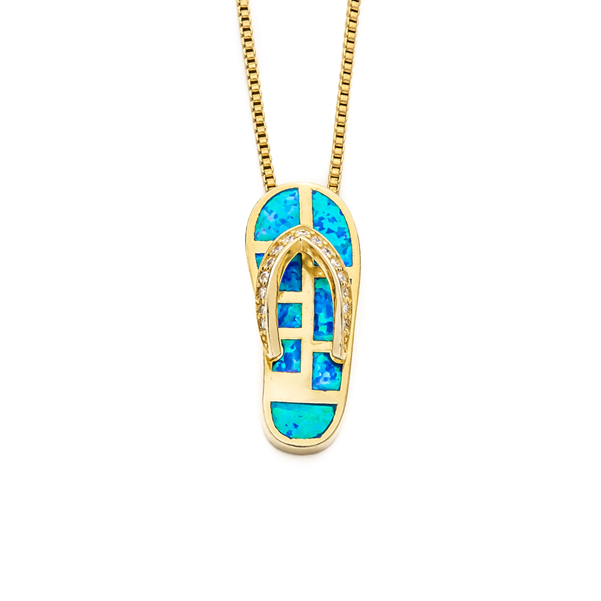 Flip Flop Necklace - Gold Plated
